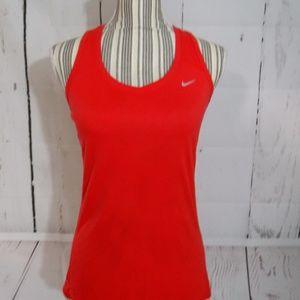 Nike Tops - Nike Dri Fit Orange Racerback Workout Top